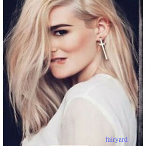 Fashion Women Retro Vintage Style Cross Ear Stud Earrings