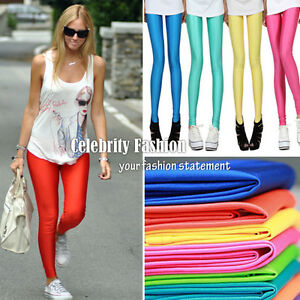 ac13-Celebrity-Style-80s-Shiny-Neon-Metallic-Electric-Coloured-Leggings-Tights