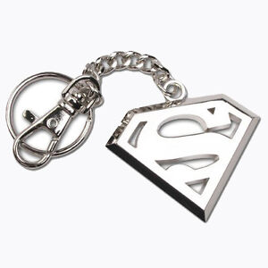 Superman-Steel-Emblem-Keychain-Keyring-Noble-Gift