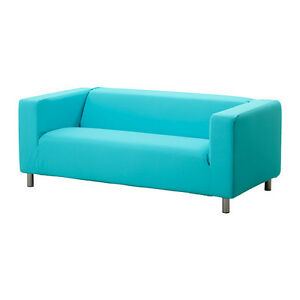 Ikea klippan cover granan turquoise 2 seat sofa loveseat slipcover blue aqua new Klippan loveseat covers
