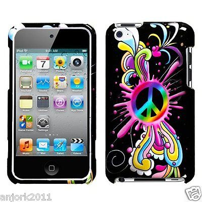 Apple Ipod Touch 4 Snap-on Hard Case Cover Accessory Peace Pop