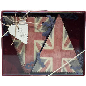 British Union Jack Vintage Chic Card Bunting Flag Banner Olympics East of India