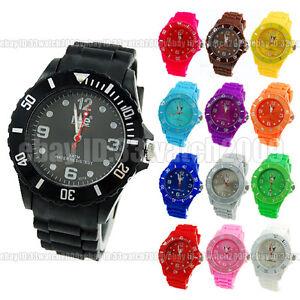 Fashion-casual-sports-style-silicone-band-muticolor-quarz-watch-13-colors-W3047
