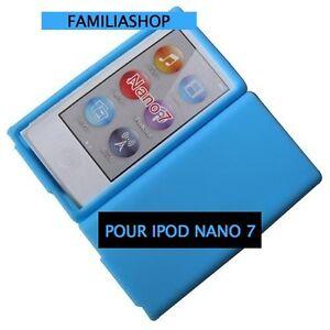 housse etui coque silicone bleu clair pour ipod nano 7 7g