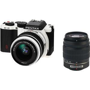 Pentax-K-01-White-Digital-Camera-With-18-55mm-50-200mm-Lenses