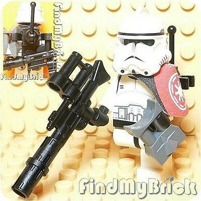 Gt601b Lego Star Wars Clone Trooper & Gun - White -