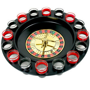 Roulette Adult Drinking Party Game Spin N Shot with 16 Shot Glasses Set for ...