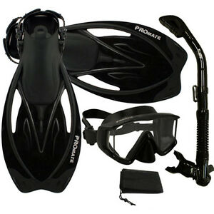 Panoramic-Snorkeling-Diving-Dry-Snorkel-Silicone-Mask-Fins-Flippers-Bag-Gear-Set
