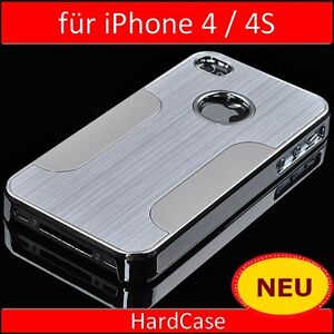 Apple iPhone 4 4S Aluminium Chrome Cover Bumper Hardcase Schutz Hülle Alu Case