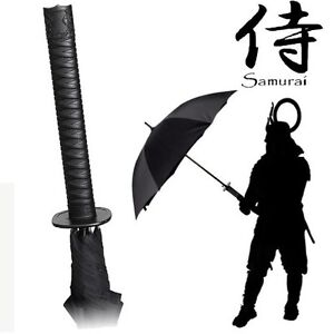 Japanese Samurai Sword style Umbrella Brolly Automatic opening Fun Novelty Item