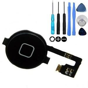 Replacement Home Menu Button Flex Ribbon Cable for iPhone 4 - Black