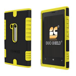 FOR-Nokia-Lumia-920-YELLOW-DUO-Shield-Heavy-Duty-Hard-Case-Cover-CLEAR