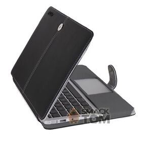 Black-OEM-Leather-Case-Cover-New-for-Apple-MacBook-Air-11inch-Screen-By-SmackTom