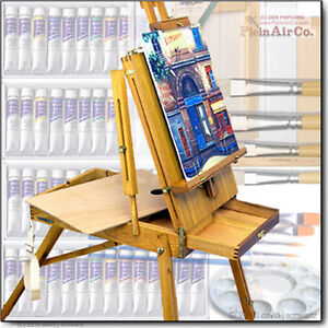 French-Oil-Painting-Hardwood-Art-Easel-500-Supplies-Set-Easel-Choice-NEW-NR