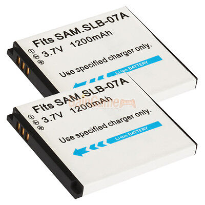 2 X Slb-07a Battery For Samsung Tl100 Tl220 St50 St45