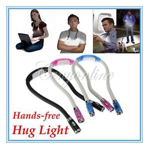 Flexible Adjustable 4 Modes LED Handsfree Reading Book Night Neck Hug light Lamp