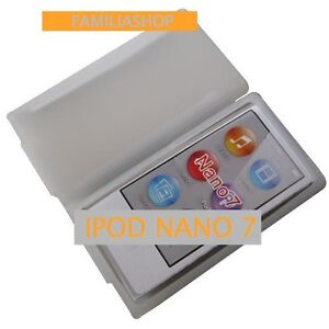 Housse etui coque silicone blanc blanche pour ipod nano 7 for Housse ipod nano 7
