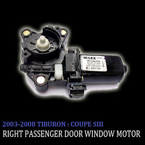 Right-Side-Door-Window-Motor-For-03-04-05-06-07-08-Hyundai-Tiburon-Coupe-SIII