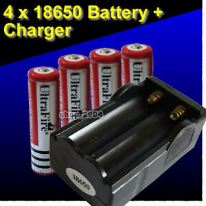 4-x-UltraFire-18650-3-7v-3000mAh-Protected-Rechargeable-Battery-CHARGER