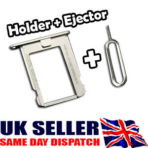 NEW Metal Micro Sim Card Tray Holder + FREE Ejector Pin for Iphone 4 4S - A004