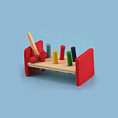 1/12 Scale: Dollhouse Miniature Peg Pounding Toy #DE4854