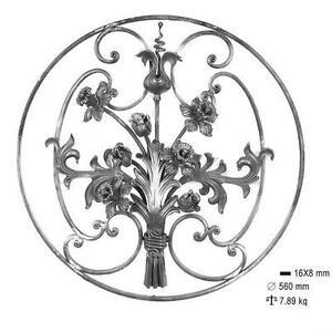 Panneau grille pour d coration avec fleurs et feuilles fer for Decoration fer forge pour jardin