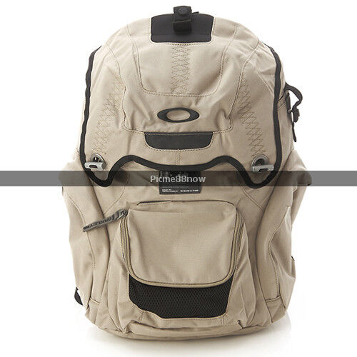 Oakley Panel Pack Backpack Khaki With Laptop Sleeve Book