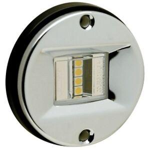 led stainless steel round transom mount navigation light. Black Bedroom Furniture Sets. Home Design Ideas