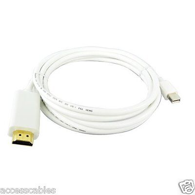 Mini Displayport To Hdmi Male Cable For Mac Pro, Macbook Air, Macbook Pro 10 Ft.