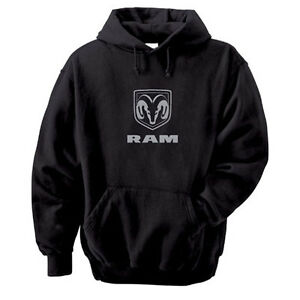 Dodge Ram Hoodie >> Dodge RAM Logo Mens Black Hooded Sweatshirt | eBay