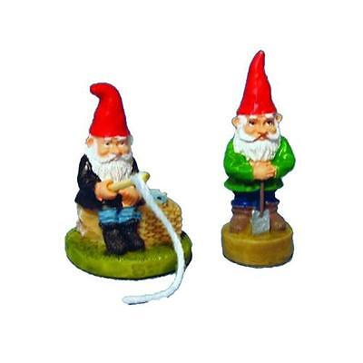 12th Scale Active Garden Gnomes Pack Of 2 Ideal For Fairy Gardens