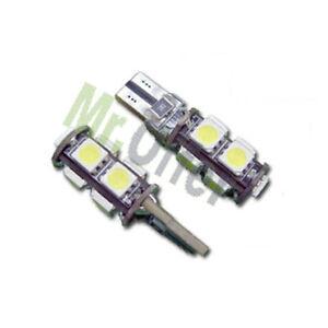 Coppia lampade canbus 9 led no errore lampadine per fari auto luce di posizione  eBay