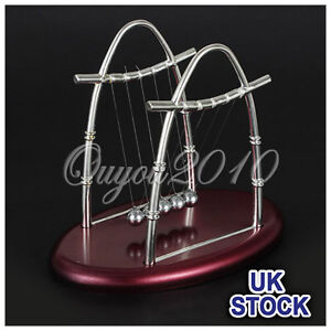 Newtons-Cradle-Executive-Balance-Balls-Physics-Science-Pendulum-Toy-Gift-New