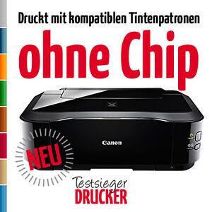 Canon PIXMA iP4950 iP 4950 Drucker druckt wie iP4000 mit Patronen ohne Chip!