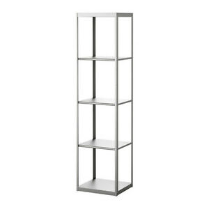 ikea grundtal shelf unit stainless steel bookcases. Black Bedroom Furniture Sets. Home Design Ideas
