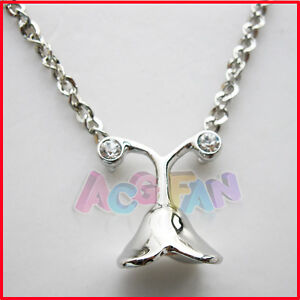 New-Cosplay-Final-Fantasy-X-2-Yuna-Flower-Silver-Color-Pendant-Necklace