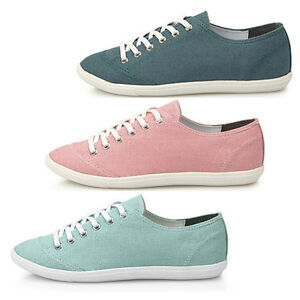 New-Canvas-Womens-Lace-Up-Flat-Loafers-Shoes