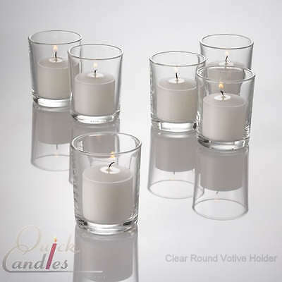Set of 144 Glass Votive Candle Holders. ...