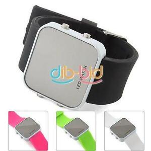 New-LED-Jelly-Style-Silicone-Sports-Unisex-Mirror-Watch-ERUS
