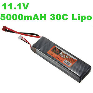 11.1V 3S1P 5000mAh 30C Lipo Rechargeable Battery For RC Helicopter/Airplane/Car