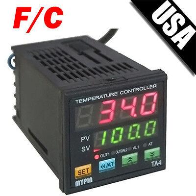Dual Digital FC PID Programmable Temperature Control Controller SSR 2 Alarms TA4