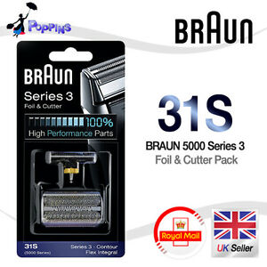 NEW-Genuine-BRAUN-31S-5000-Series-Replacement-Foil-Cutter-Set