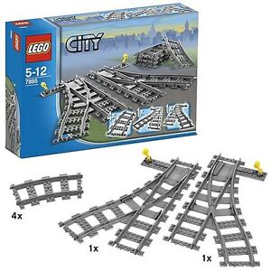 LEGO-Train-7895-Switch-Tracks-City-Works-With-7898-7897-Toy-Set-Brand-NEW