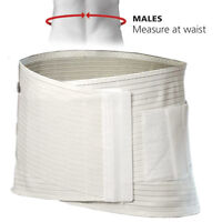 X-large Male Lower Back Lumbar Support Brace Comfortable And Lightweight White - red box - ebay.co.uk