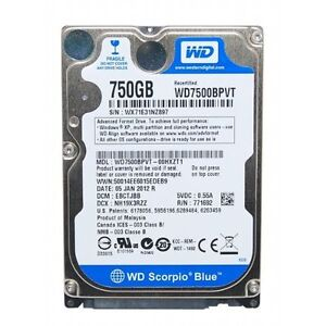 Western Digital Scorpio Blue WD7500BPVT 750gb 2.5