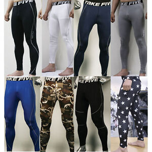 New-Mens-COMPRESSION-Base-Layer-Pants-tight-under-skin-sports-gear-Collection
