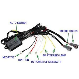 Daytime Running Light DRL Relay Harness Auto Control On/Off Switch