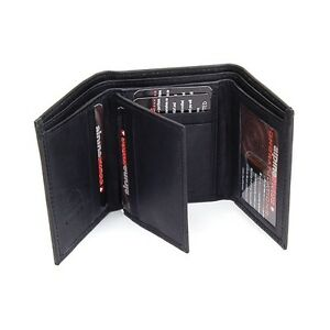 Mens-Leather-Trifold-Wallet-10-Card-Slots-2-IDs-2-Bill-Sections-Alpine-Swiss-New