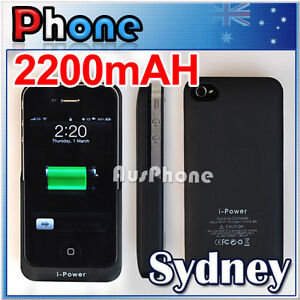 Slim Portable External Battery Charger Rechargeable Case for iPhone 4 4S 4G