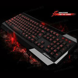 USB-2-0-Red-Led-Backlit-Light-Up-Multi-media-Illuminated-keyboard-for-PC